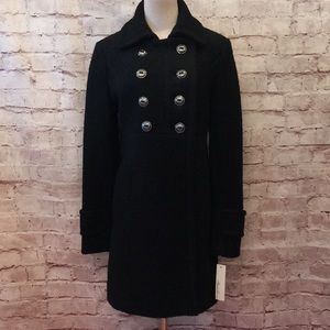 Kenneth Cole Classic Boucle Wool Coat Fitted 8 NEW